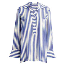 Buy Max Studio Long Sleeve Striped Shirt, Blue/White Online at johnlewis.com