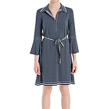 Buy Max Studio Printed Collar Jersey Dress, Navy/Ivory Online at johnlewis.com