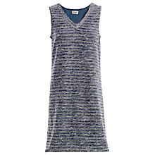 Buy Max Studio Tweedy Dress, Navy/Black/Ivory Online at johnlewis.com