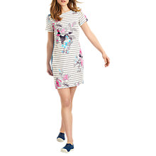 Buy Joules Imelda Dress, Grey Bloom Stripe Online at johnlewis.com