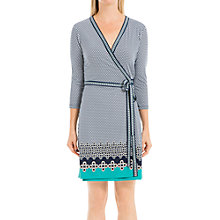 Buy Max Studio Wrap Jersey Dress, Deep Blue/Aqua Online at johnlewis.com