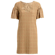 Buy Max Studio Square Lace Dress, Brown Online at johnlewis.com