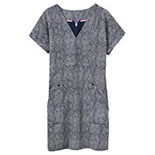 Buy Joules Lisette Textured Zip Pocket Dress, Navy Orchid Online at johnlewis.com