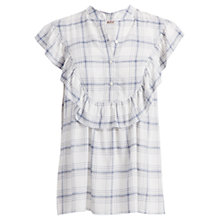 Buy Max Studio Sleeveless Checked Blouse, Ivory/Navy Online at johnlewis.com