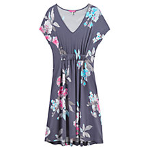 Buy Joules Finola Printed Dress, Grey Bloom Online at johnlewis.com