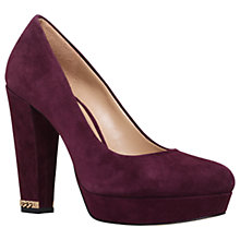 Buy MICHAEL Michael Kors Sabrina High Cone Heel Pump Court Shoes Online at johnlewis.com