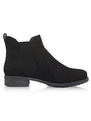 Carvela Solid Slip On Ankle Boots, Black