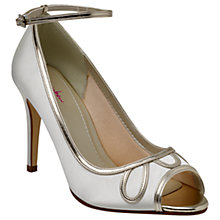 Buy Rainbow Club Pearle Peep Toe Stiletto Sandals, Ivory Online at johnlewis.com