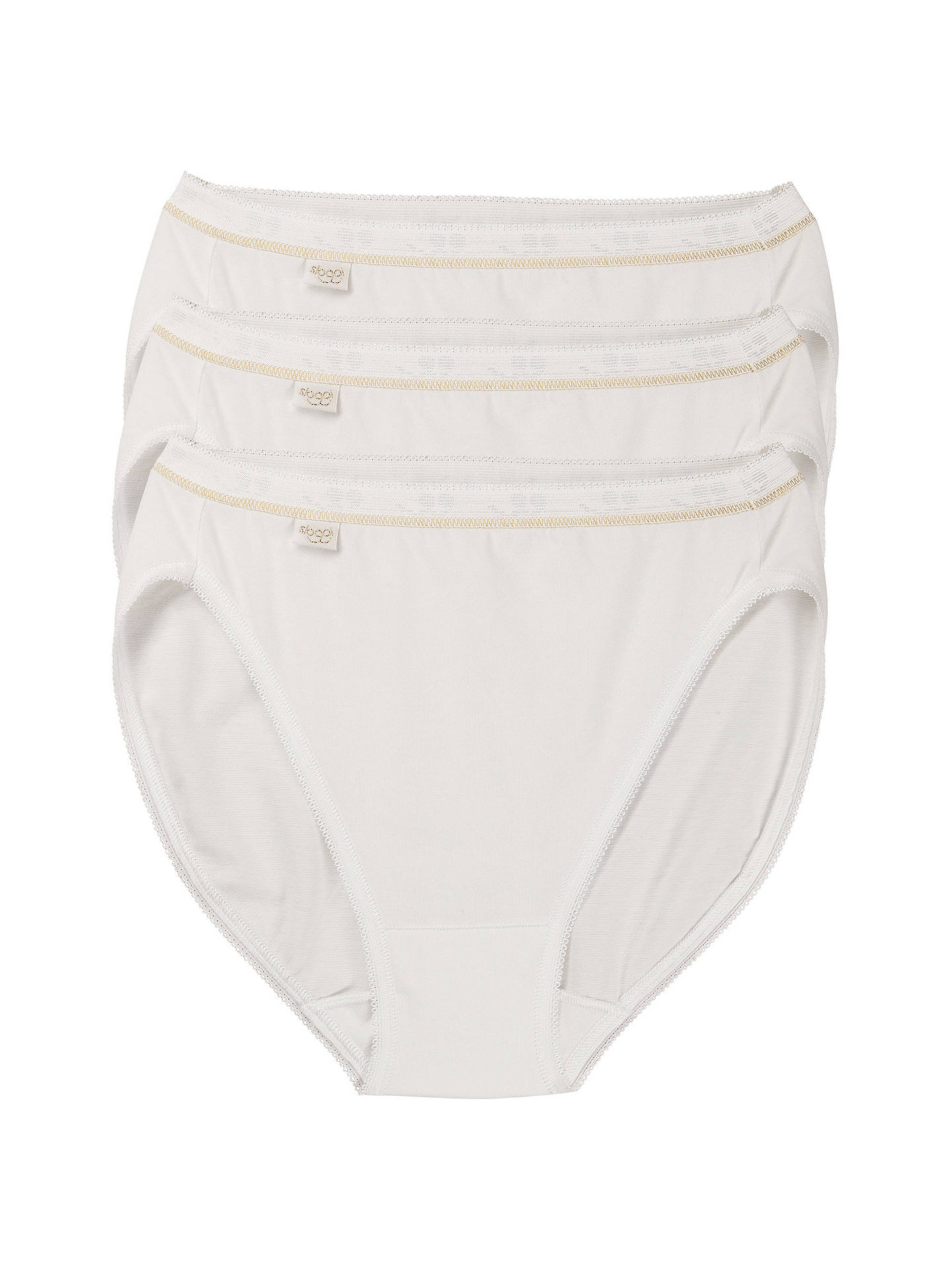 Sloggi Womens Feel Natural Tai Brief 3 Pack White