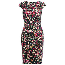Buy French Connection Midnight Bloom Cotton Dress, Black/Multi Online at johnlewis.com