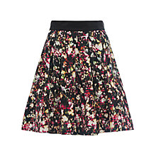 Buy French Connection Midnight Bloom Ottoman Skirt, Black/Multi Online at johnlewis.com