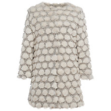 Buy French Connection Bubble Faux Fur Collarless Jacket, Classic Cream/Multi Online at johnlewis.com