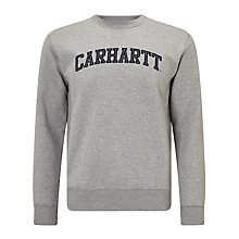 Buy Carhatt WIP Yale Logo Sweatshirt, Grey Heather/Navy Online at johnlewis.com