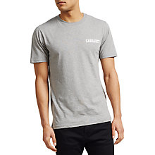 Buy Carhartt WIP College Script Short Sleeve T-Shirt, Grey Heather/White Online at johnlewis.com