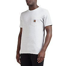 Buy Carhartt WIP Pocket T-Shirt, Ash Heather Online at johnlewis.com