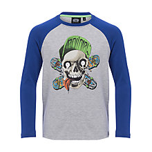 Buy Animal Boys' Ripptide Long Sleeve T-Shirt, Blue/Grey Online at johnlewis.com