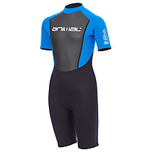 Buy Animal Boys' Nova Short Wetsuit, Black/Blue Online at johnlewis.com