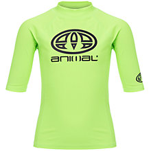 Buy Animal Boys' Hiltern Short Sleeve Rash Vest, Lime Online at johnlewis.com
