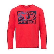 Buy Animal Boys' Long Sleeve Board T-Shirt, Watermelon Red Online at johnlewis.com