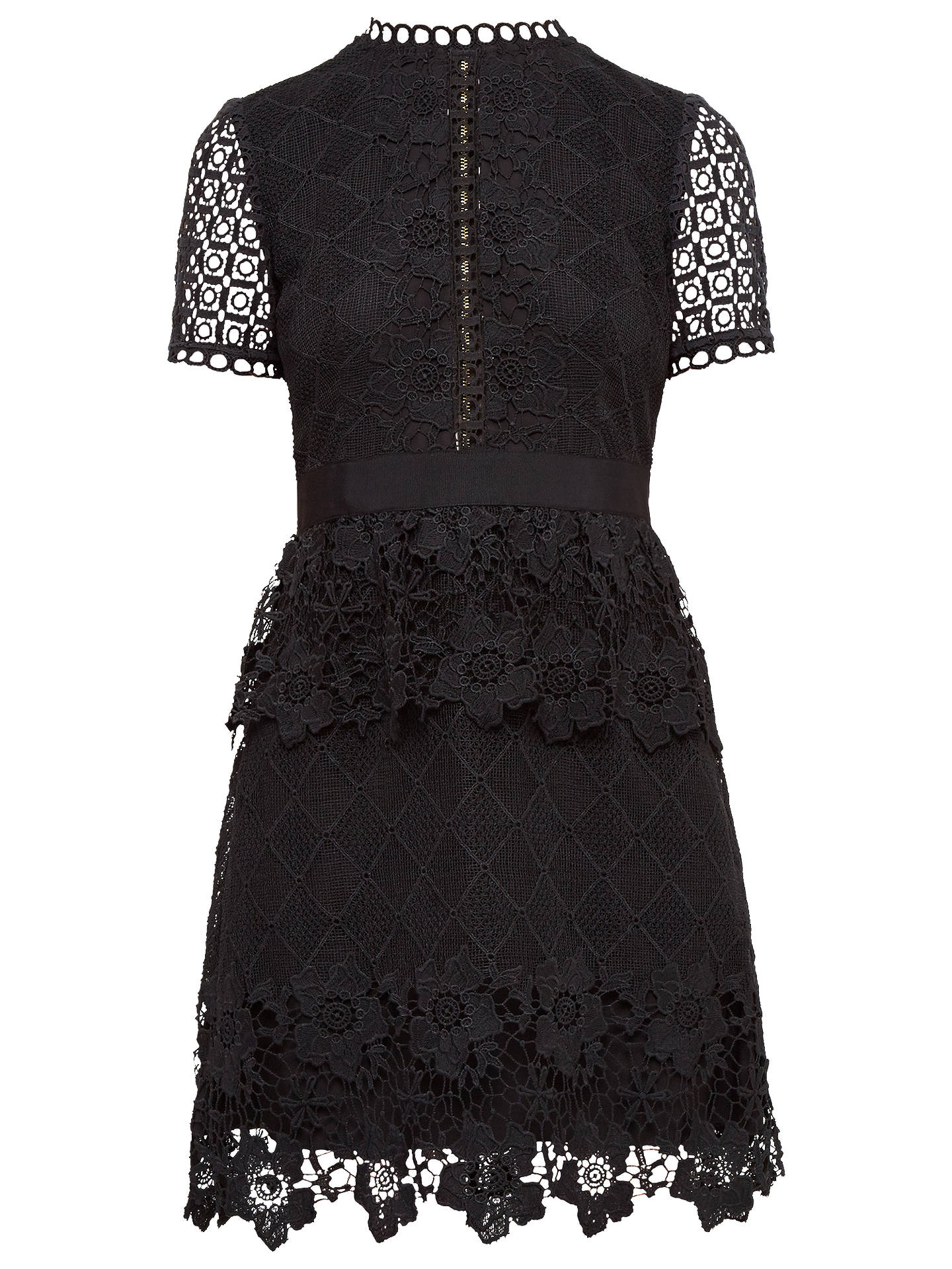 Ted Baker Black Layered Lace Dress Little Black Dress