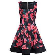 Buy French Connection Allegro Poppy Satin Dress, Multi Online at johnlewis.com