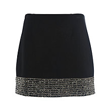 Buy French Connection Crystal Shot Mini Skirt, Black/Silver Online at johnlewis.com