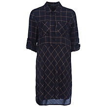 Buy French Connection Fast Darla Dress, Utility Blue/Indian Tan Online at johnlewis.com