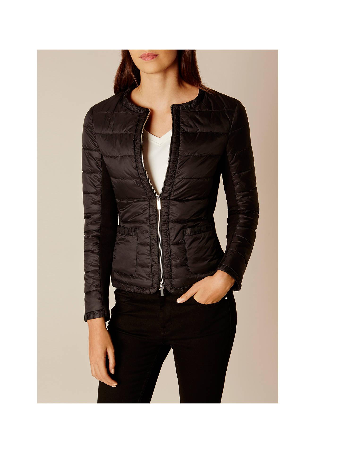 d141898fd3 ... Buy Karen Millen Lightweight Padded Jacket, Black, 6 Online at  johnlewis.com ...