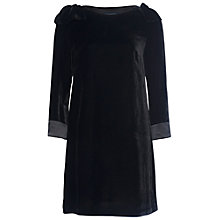 Buy French Connection Nova Velvet Tunic, Black Online at johnlewis.com