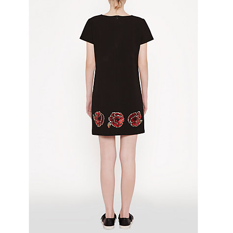 Buy French Connection Camilla Tunic Dress, Black/Red Online at johnlewis.com