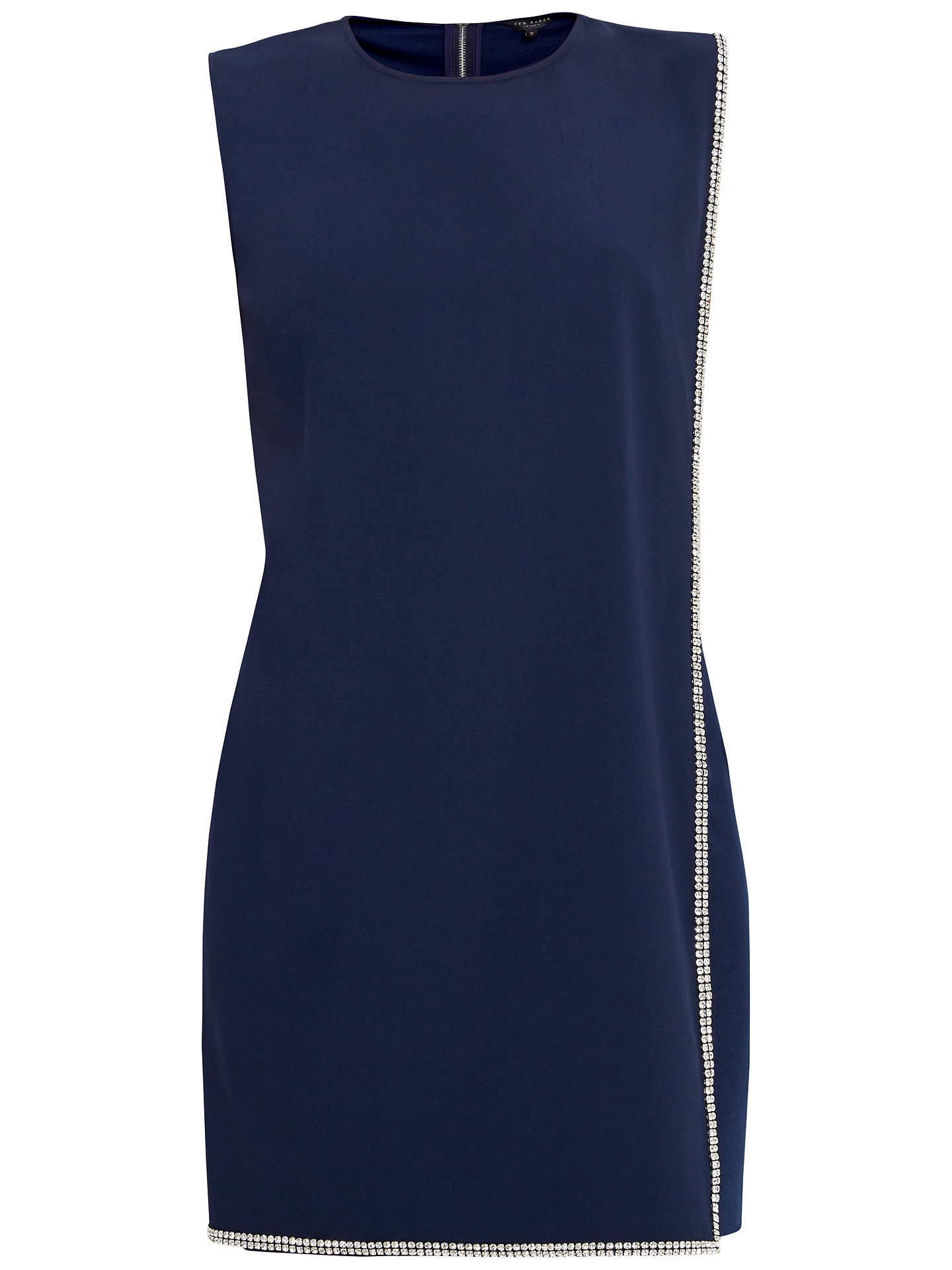 ad96dc74aca Buy Ted Baker Burford Double Layer Embellished Tunic Dress, Navy, 0 Online  at johnlewis ...