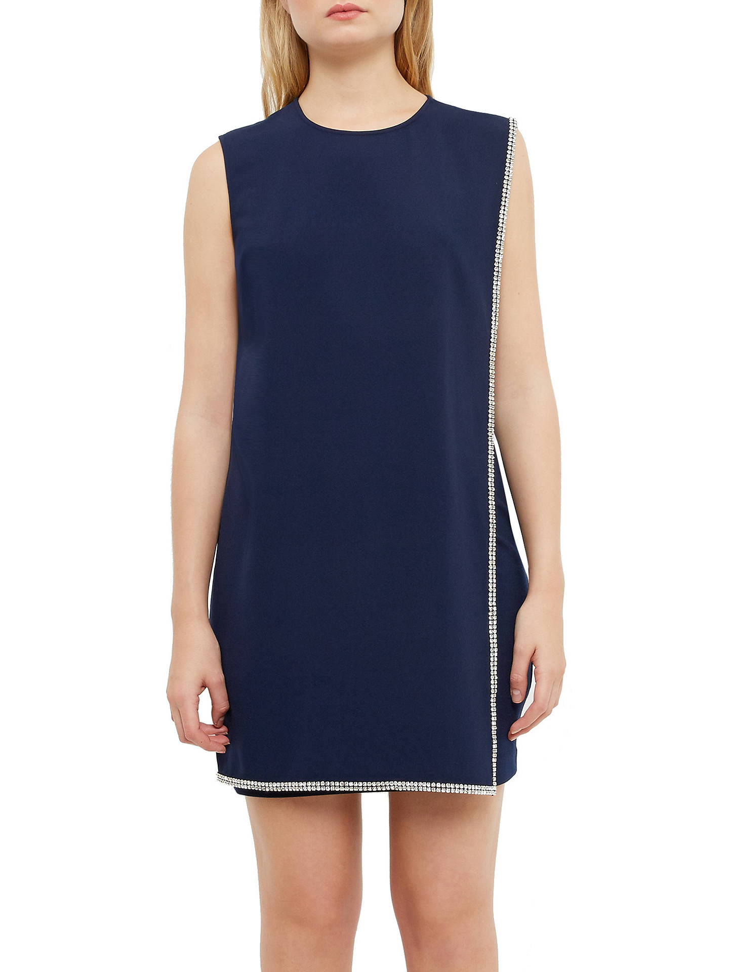 70dfe838fcd ... Buy Ted Baker Burford Double Layer Embellished Tunic Dress, Navy, 0  Online at johnlewis ...