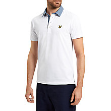 Buy Lyle & Scott Woven Collar Cotton Polo Shirt, White Online at johnlewis.com