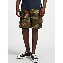 Buy Carhartt WIP Regular Fit Cargo Shorts, Camo Green Online at johnlewis.com