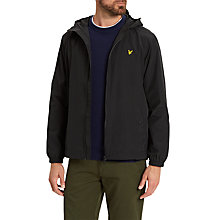 Buy Lyle & Scott Zip Through Hooded Jacket, True Black Online at johnlewis.com