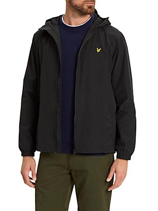 Lyle & Scott Zip Through Hooded Jacket, True Black