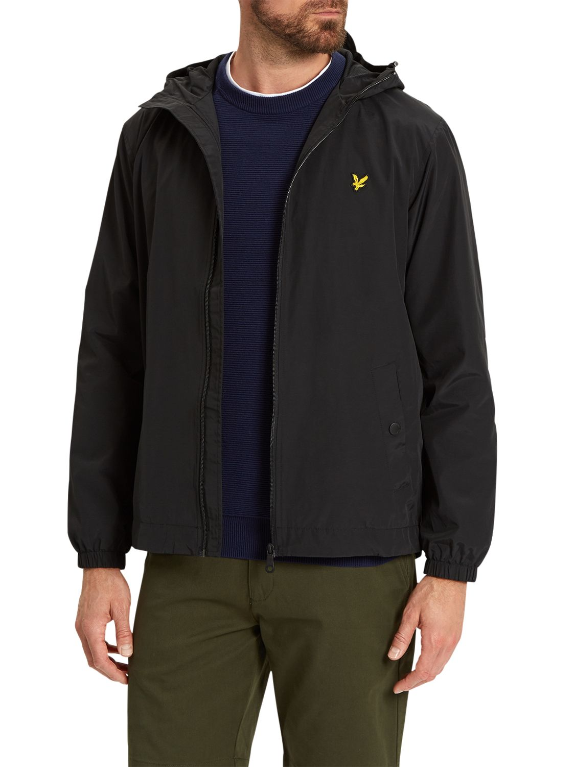Lyle & Scott Lyle & Scott Zip Through Hooded Jacket, True Black
