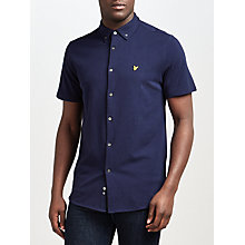 Buy Lyle & Scott Jersey Cotton Short Sleeve Shirt, Navy Online at johnlewis.com