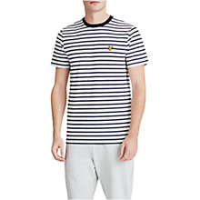 Buy Lyle & Scott Breton Stripe T-Shirt, Off White Online at johnlewis.com