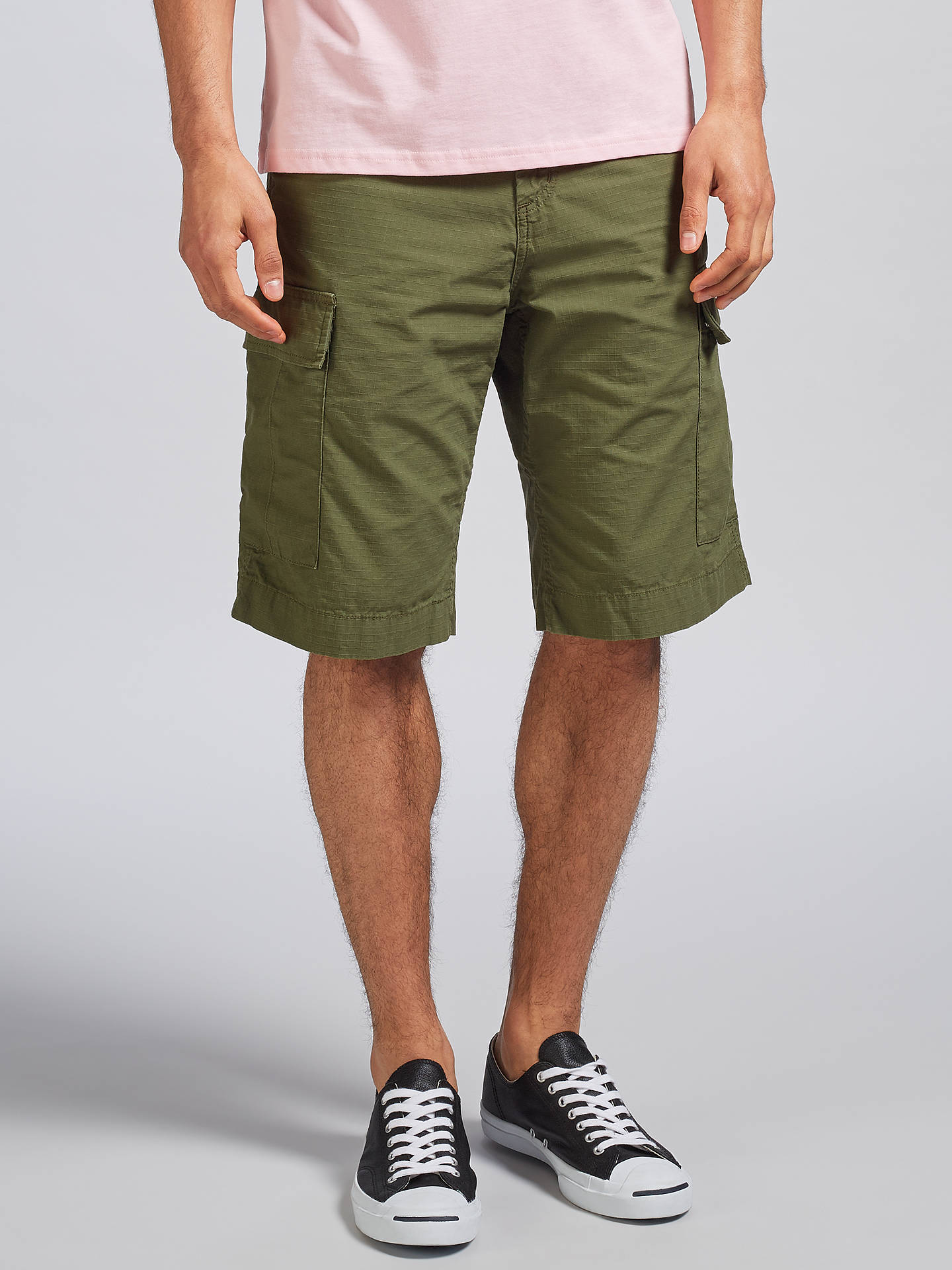 9473f3e885 Buy Carhartt WIP Regular Fit Cargo Shorts, Rover Green, 30R Online at  johnlewis.