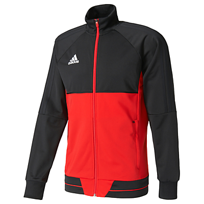 Adidas Football Tiro 17 Training Jacket, Black/Red