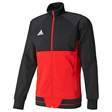 Buy Adidas Football Tiro 17 Training Jacket, Black/Red Online at johnlewis.com