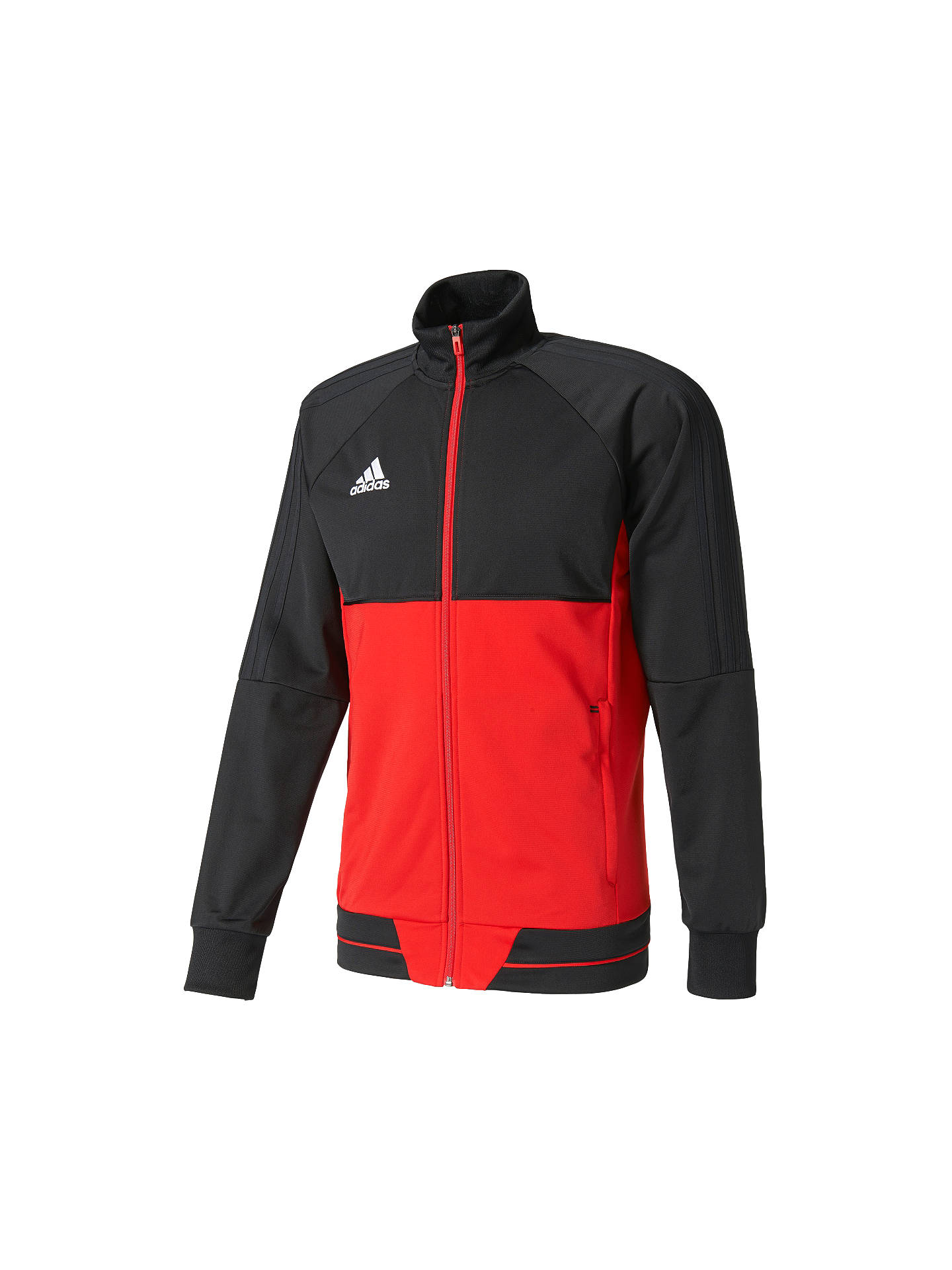 Adidas Football Tiro 17 Training Jacket, BlackRed at John
