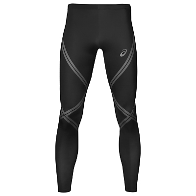 Asics Tiger Stripe Running Tights, Black