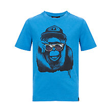 Buy Animal Boys' Shadey Short Sleeve T-Shirt, Blue Online at johnlewis.com
