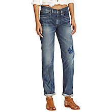 Buy Polo Ralph Lauren Astor Slim Boyfriend Jeans, Dark Indigo Online at johnlewis.com