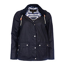 Buy Barbour Rief Wax Jacket, Navy Online at johnlewis.com