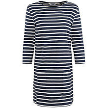 Buy Seasalt Trezise Stripe Tunic Dress, Breton Night Ecru Online at johnlewis.com