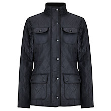 Buy Barbour Utility Polarquilt Jacket, Navy Online at johnlewis.com