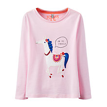 Buy Little Joule Girls' Horse Applique T-Shirt, Pink Online at johnlewis.com